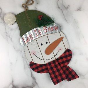 Snowman Door Hanger/Wall Hanging Let it Snow New
